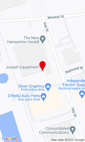 Google Map of Joseph Equipment Company 300 Gay Street, Manchester, NH, 03103
